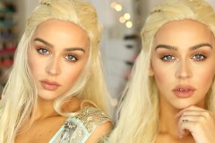 Khaleesi Halloween Makeup Complete Look Famous Daenerys Targaryen Game of Thrones