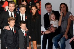 David Beckham and children
